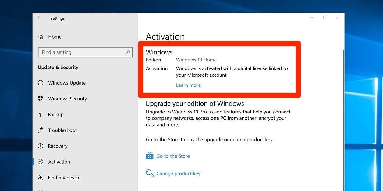 如何查找您的 Windows 10 产品密钥或数字许可证