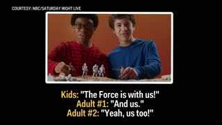 SNL' produced a perfect spoof ad making fun of adult 'Star Wars