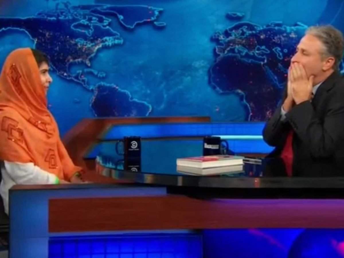 Here's The Moment When Nobel Peace Prize Winner Malala Yousafzai Left Jon Stewart Speechless