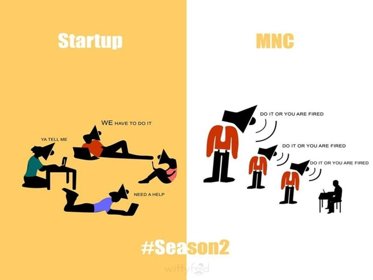 This infographic will help you choose between a startup and an MNC