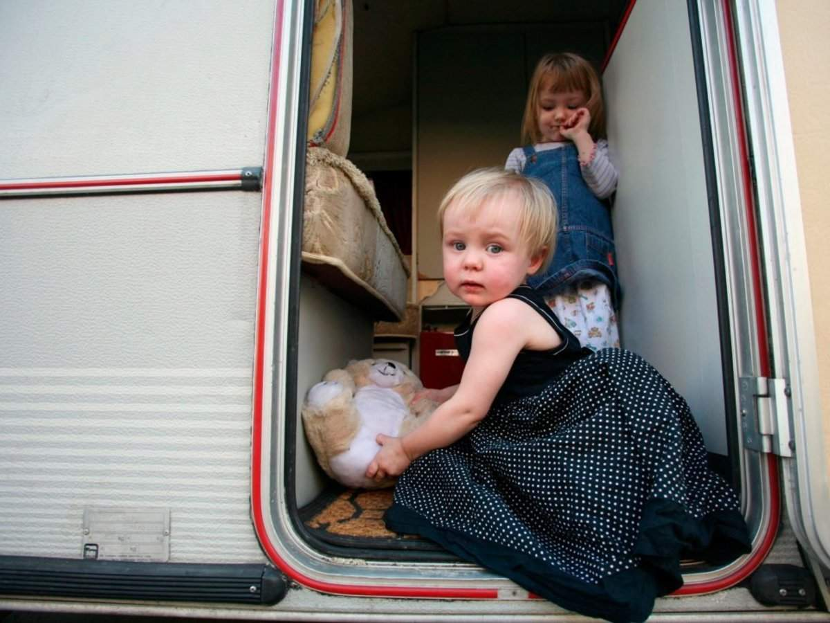 England's housing crisis has gotten so bad that children are living in shipping containers, doing homework on