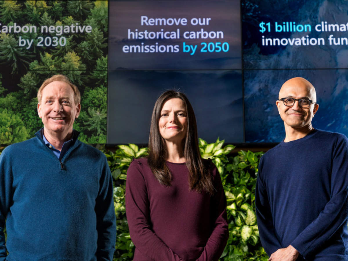 Satya Nadella explains Microsoft's plan to become carbon negative will follow facts — not hype