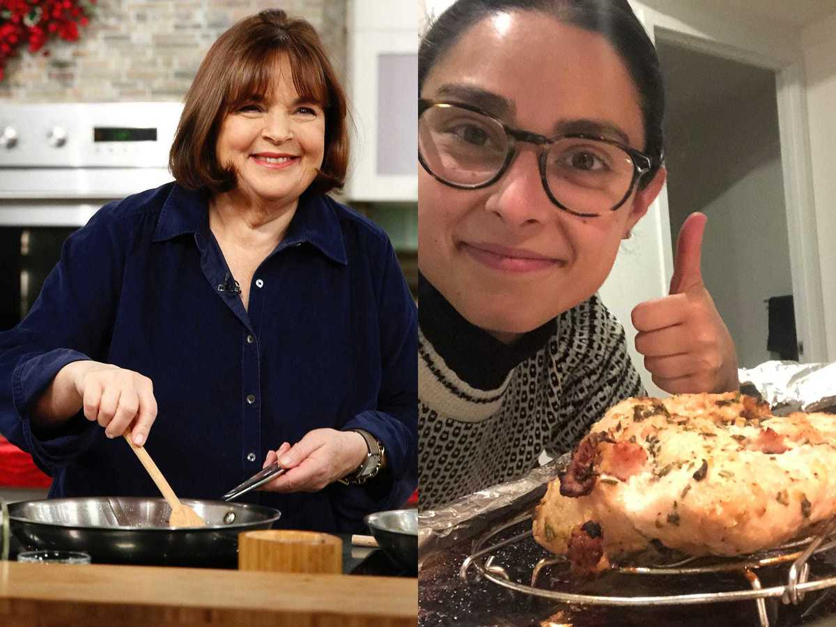 I made Ina Garten's easy turkey breast recipe, and it's great for a last-minute Thanksgiving dinner
