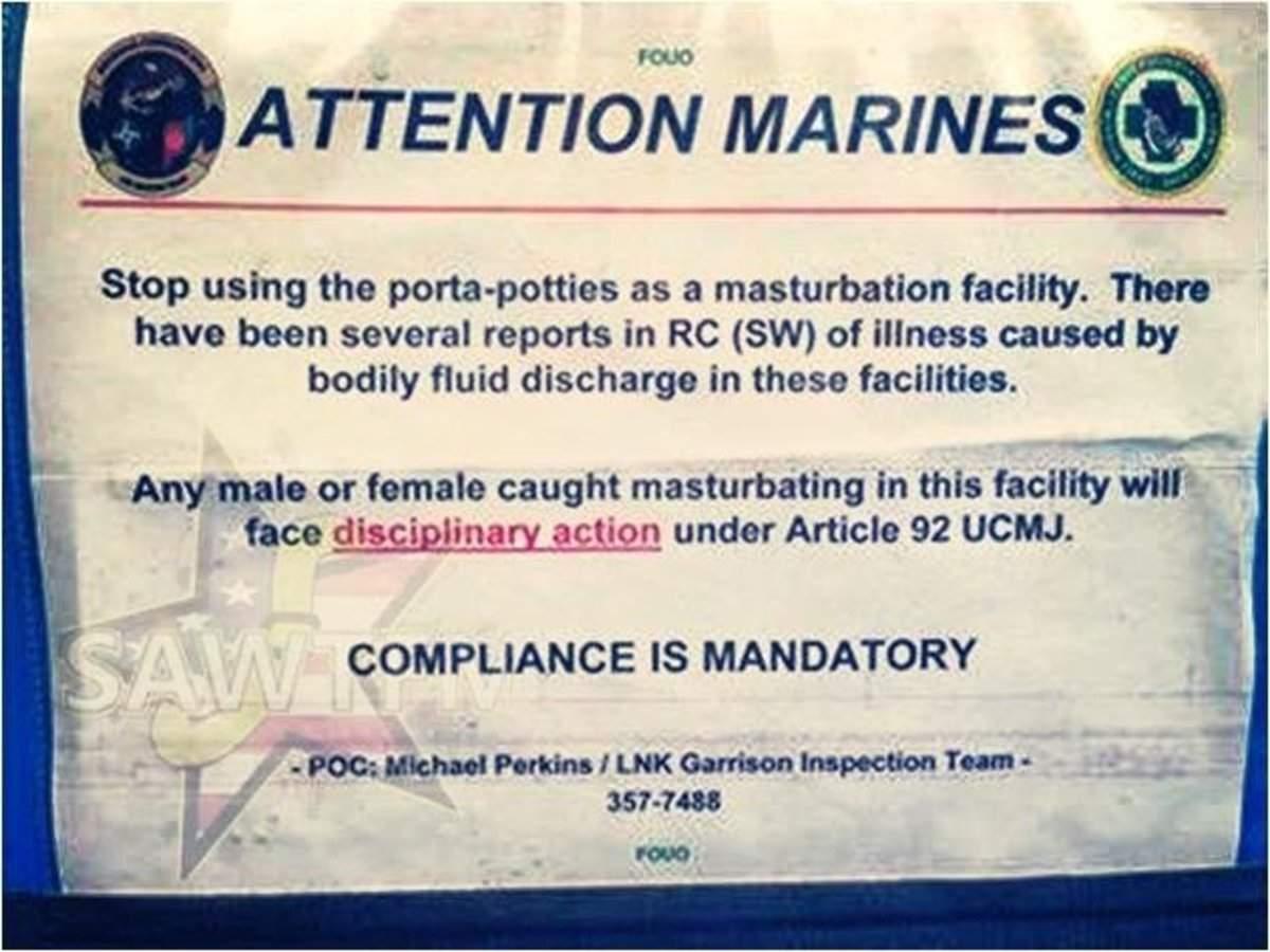 US Military Cracks Down On Troop Masturbation In Afghanistan
