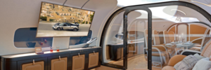 The ceiling of this new Airbus private jet is one giant screen