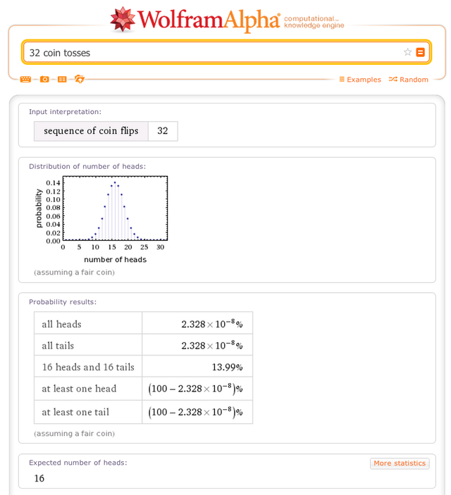 13. Wolfram Alpha is great at working with probabilities.