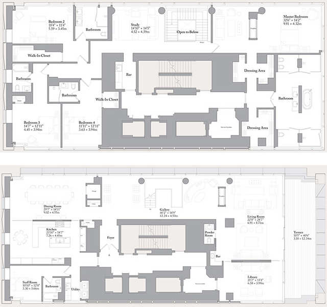 Here S The Floor Plan For The Incredible Duplex The Bottom Floor Is On The Bottom Business Insider India