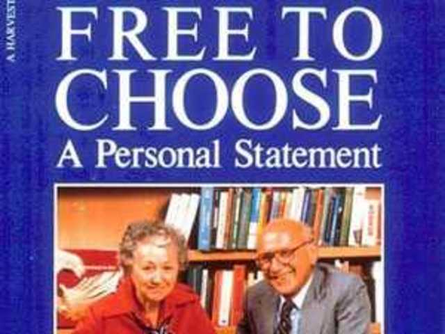 friedman free to choose a personal statement