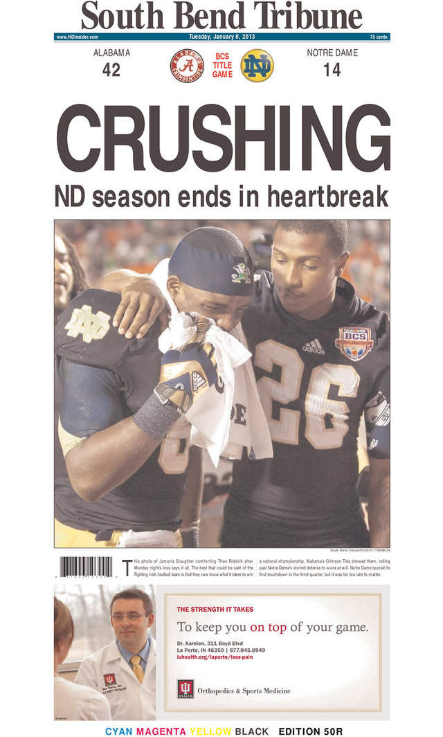 The Best Newspaper Headlines From Alabama's Blowout Of Notre