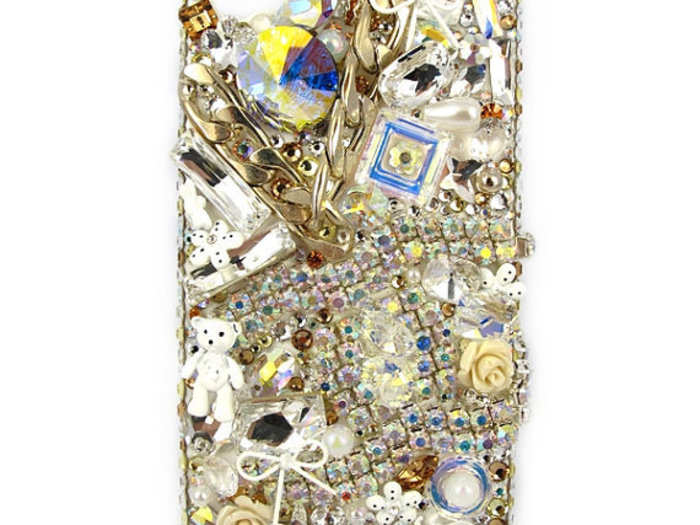 Swarovski crystals, via Etsy - $239.00. Warning: Do not stare directly into this case.