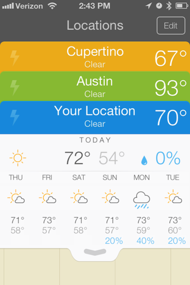 Right Away We Re Shown Weather Data For Our Present Location Austin And Cupertino Weather Is Just A Tap Away Too Business Insider India Trouvez et réservez des logements uniques sur airbnb. cupertino weather is just a tap away