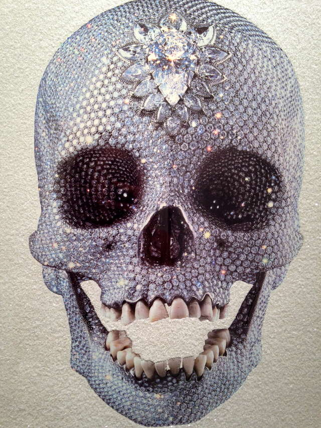 Damien Hirst For The Love Of God White Skull Is A Silk Screen Print With Diamond Dust That Goes For 3 070 Business Insider India