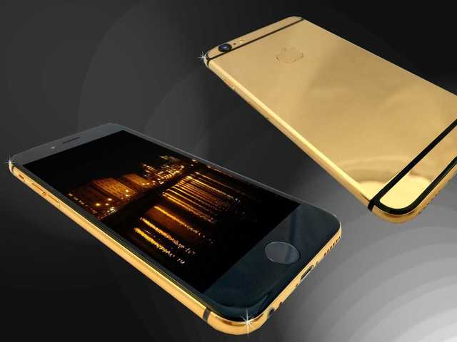 watch fb182 bac30 This 24-karat gold Goldstriker iPhone 6 will run you about $4,700 ...