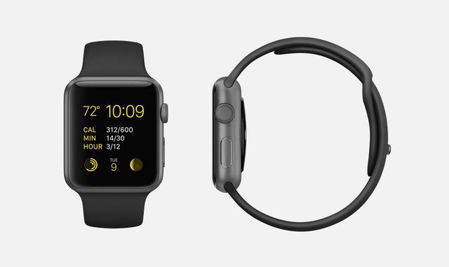 release date 077af 59939 Black Sport: 7000 series space gray aluminum Apple Watch Sport (38mm ...