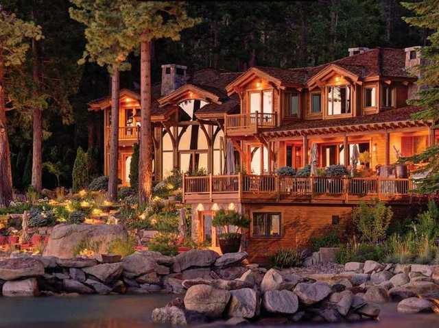 This 2.5-acre home in Snug Harbor, just one of three parcels Ellison owns in Lake Tahoe, sold for $20.35 million in July 2014. He's reportedly working on building another home that's three times the size of this one, with 18,000 square feet of living space in addition to an island, waterfalls, and a tennis court.