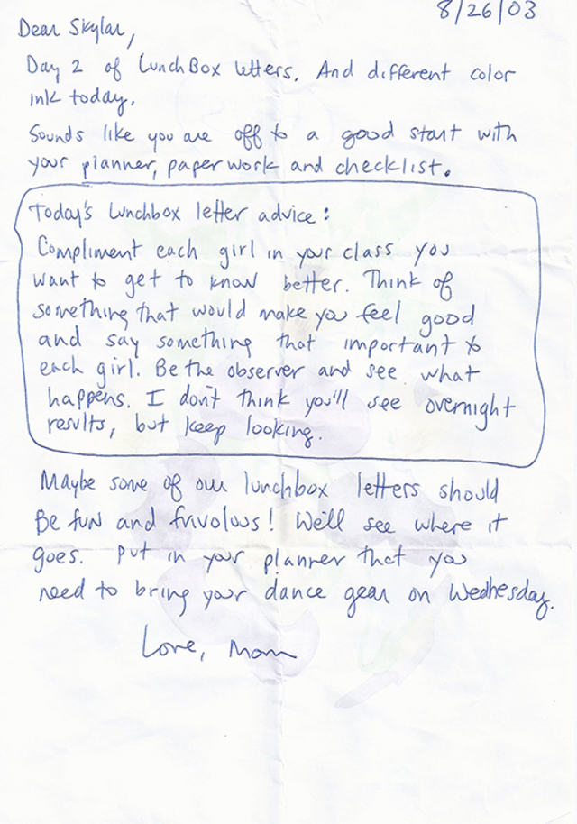 11 years ago, a mom wrote one letter a day to her daughter