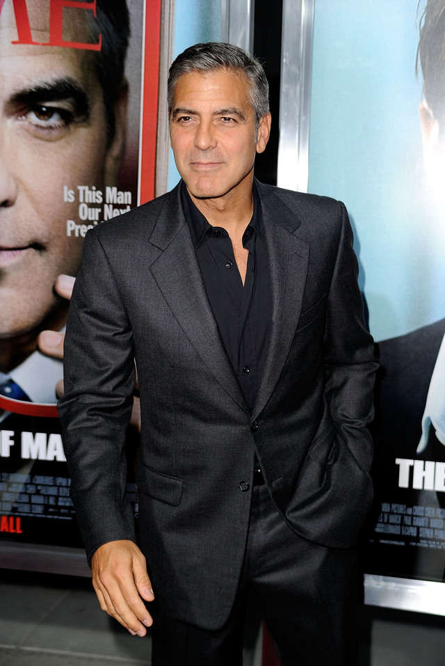 Don't listen to GQ - George Clooney is still incredibly stylish and these 15 photos prove it Hes-a-big-fan-of-the-black-dress-shirt-