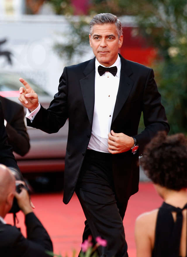 Don't listen to GQ - George Clooney is still incredibly stylish and these 15 photos prove it He-is-forever-to-loyal-the-bow-tie-