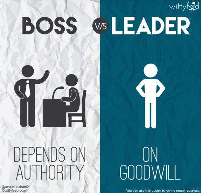 Know What Separates 'A Leader' From 'A Boss'