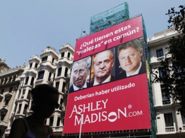 how does ashley madison show up on bill