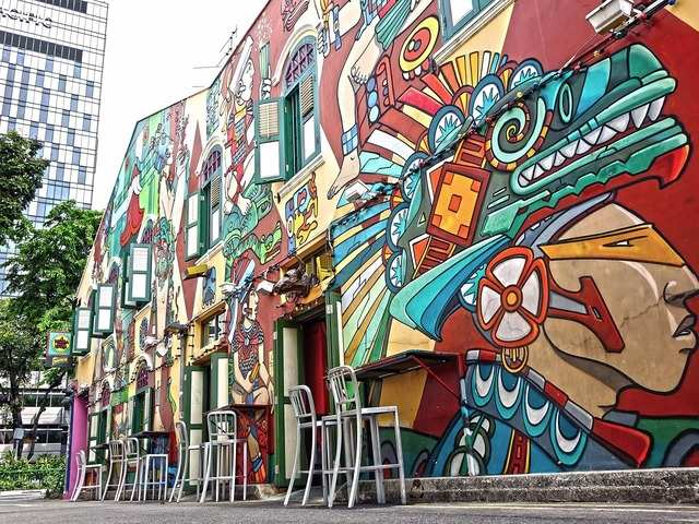 Haji Lane in the Kampong Glam neighborhood is a tucked-away alley that holds a collection of narrow shophouses that have been converted into hip shops that fashionistas will love.