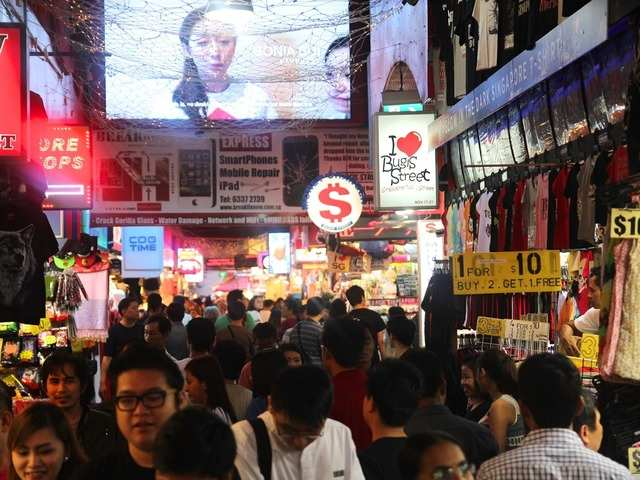 For budget shopping, head to Bugis Street, a large street market filled with clothing, shoes, accessories, food stalls, and retro shops. Check out Good Old Days for vintage finds from the '60s to the '90s.