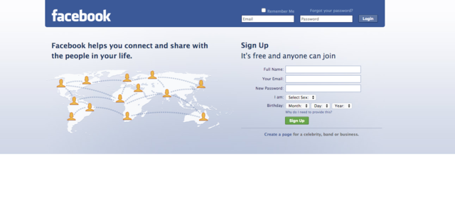 Facebook is 12 today - here's how its look has changed over