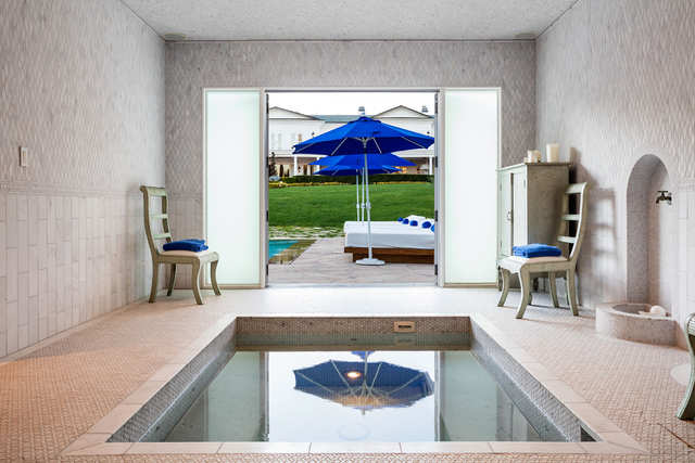 Another View From The Pool House Which Has An Indoor Tub Business Insider India