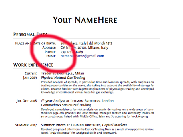 29 Things You Should Never Include On Your Resume