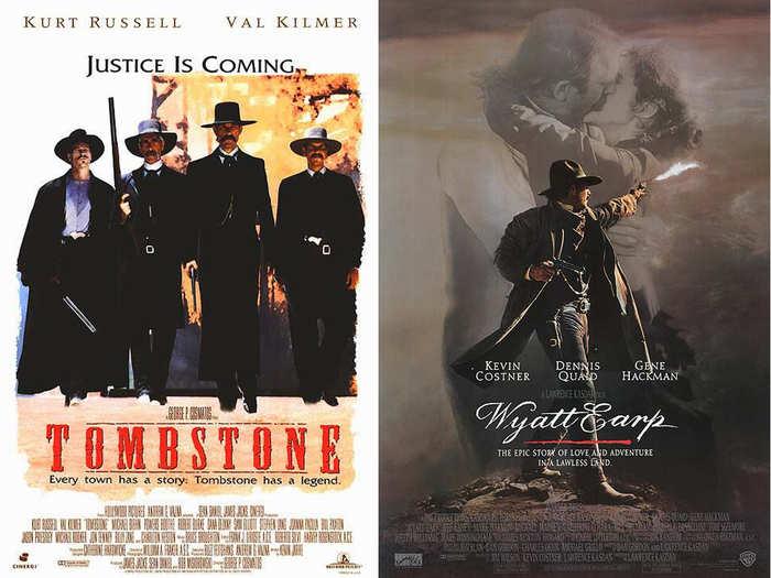 "1993/1994: ""Tombstone"" and ""Wyatt Earp"" are both centered around Western lawman Wyatt Earp."