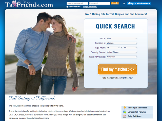 best tall dating site