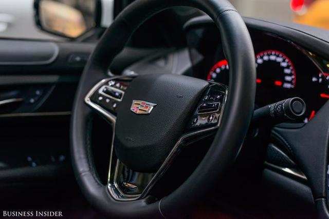 Drivers get an intuitive and nicely weighted leather-trimmed