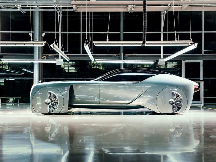 1. The Rolls-Royce Vision 100 concept car looks like something straight out of Tron.
