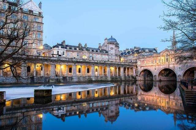 29. Bath was popular with middle class socialites in the 18th century. The city's Georgian architecture and spas survive to this day.