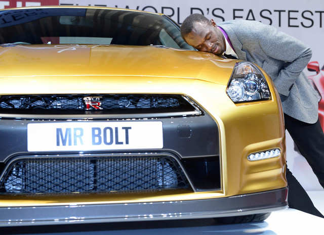 Never content with just one trophy, Bolt also owns a special edition gold GT-R. However, this was given to him by Nissan after his golden successes at the London Olympics in 2012.