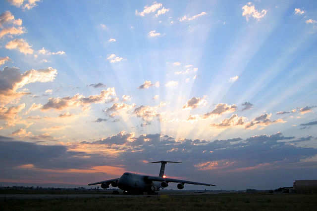 In times of trouble, when aid is needed on a huge scale, the C-5 is a welcome sight.