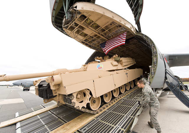 Here comes the M1 Abrams.