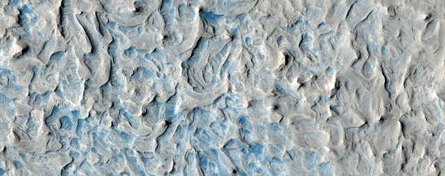 Beautiful texture in the region called North Sinus Meridiani.