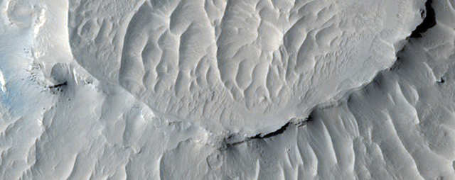 Layers in Martian buttes found in a region called West Arabia.
