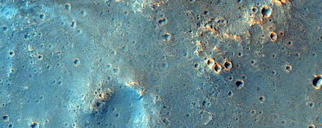 Um possível local de pouso para a missão ExoMars 2020, que a Agência Espacial Européia está executando.