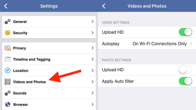 Turn off auto-playing videos in your News Feed.
