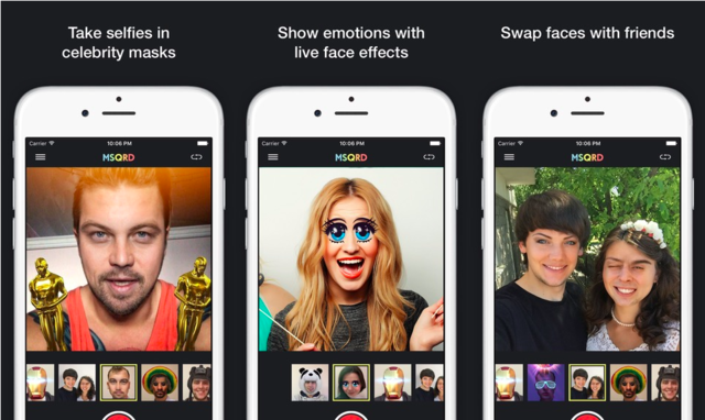 """The first indication that Facebook was wading into Snapchat's territory was in March when it acquired the app MSQRD, which lets you swap faces with goofy effects, similar to Snapchat's unique filters called """"lenses."""""""