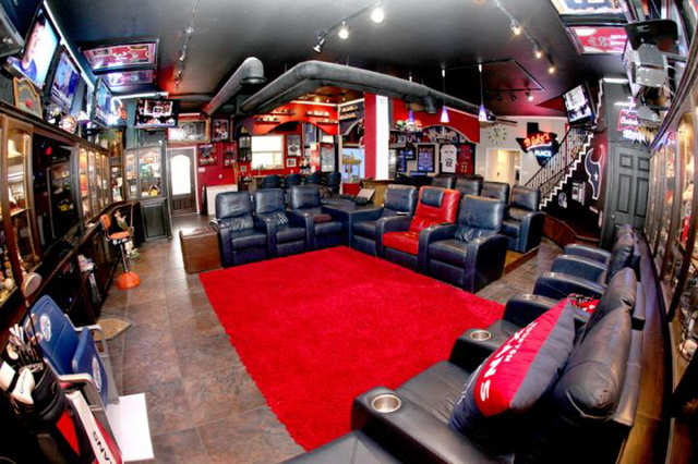 Houston Texans Man Cave Decor : Photos of the most over top man caves in america