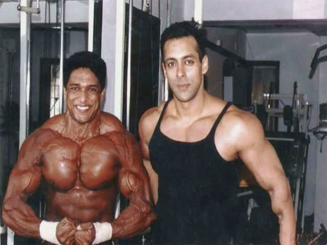 Manish with Salman