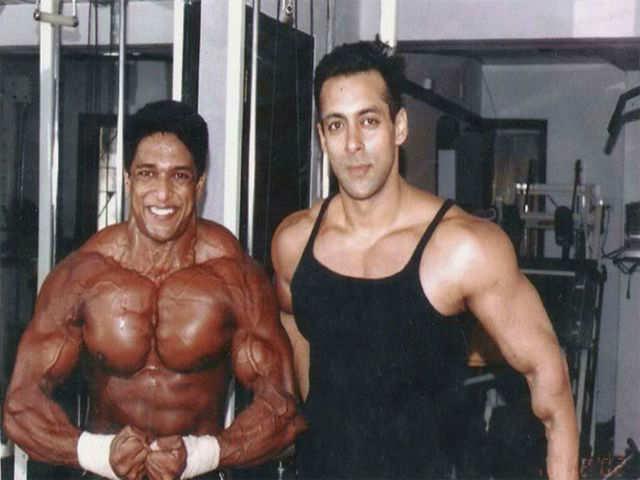 Manish with Salman