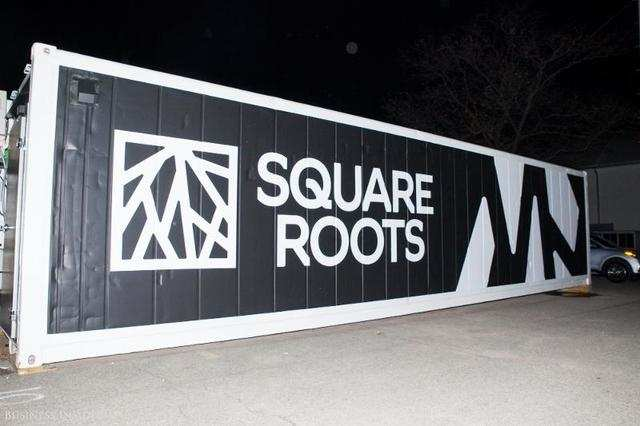 The Square Roots farms sit between an old Pfizer factory and