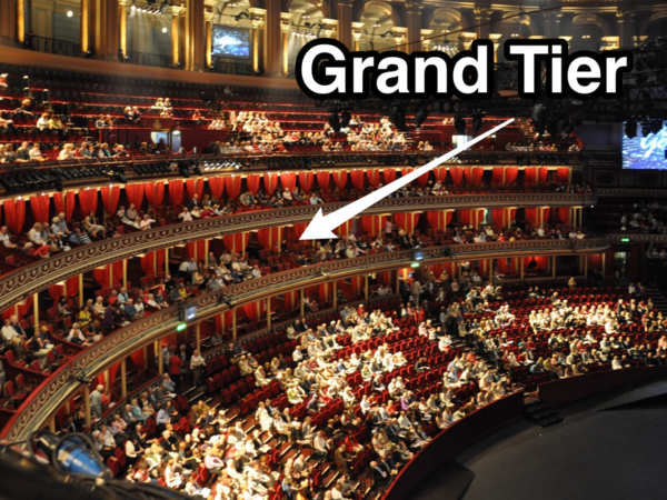 A 12 seat grand tier box at the royal albert hall is on for Door 12 royal albert hall