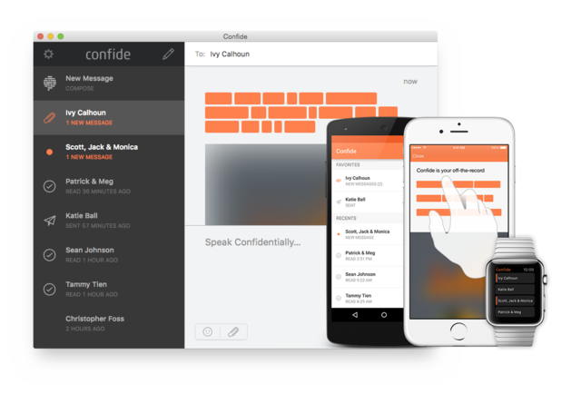 All you need to know about Confide, the messaging App that