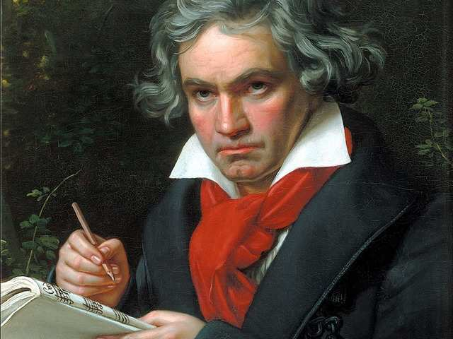 Ludwig van Beethoven, composer and pianist: