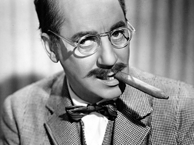 Groucho Marx, comedian and film star: